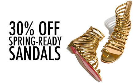 30% Off Spring-Ready Sandals