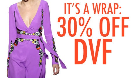 It's A Wrap: 30% Off DVF