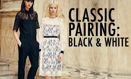 Classic Pairing: Black & White