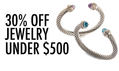 30% Off Jewelry Under $500