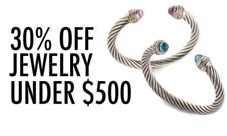 30% Off Jewelry Under $500