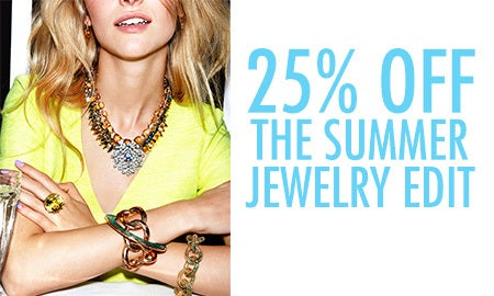 25% Off The Summer Jewelry Edit
