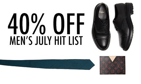 40% Off Men's July Hit List