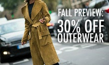 Fall Preview: 30% Off Outerwear