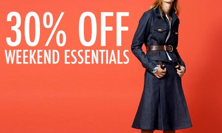 30% Off Weekend Essentials