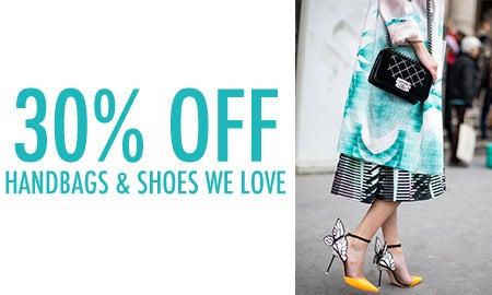 30% Off Handbags & Shoes We Love