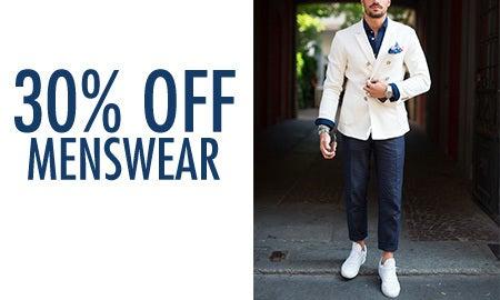 30% Off Menswear