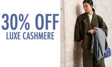 30% Off Luxe Cashmere