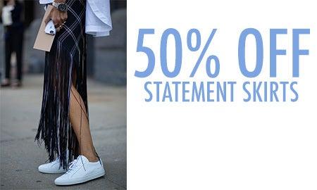 50% Off Statement Skirts