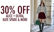 30% Off Alice + Olivia, Kate Spade & More