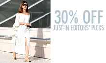 30% Off Just-In Editors' Picks