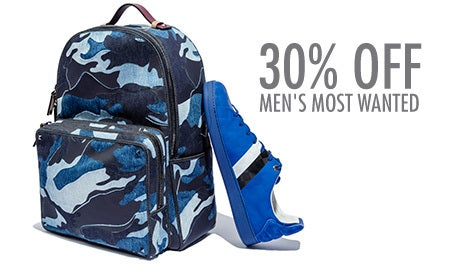30% Off Men's Most Wanted
