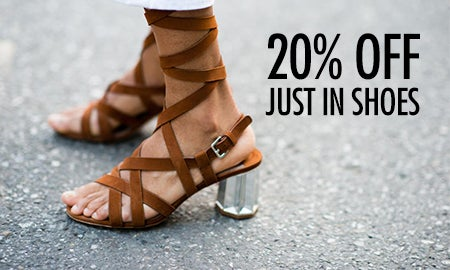 20% Off Just In Shoes