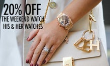20% Off The Weekend Watch: His & Her Watches