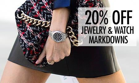 20% Off New Jewelry & Watch Markdowns