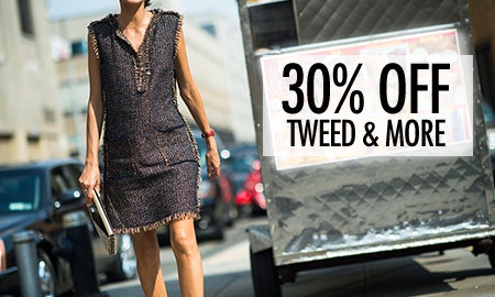 30% Off Fall Classics: Tweed, Bouclé & More