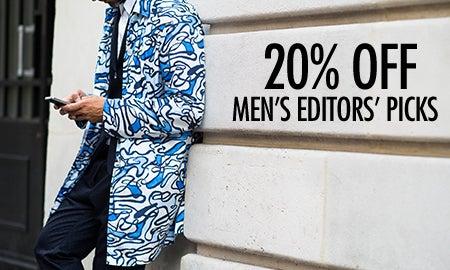 20% Off Men's Editors' Picks