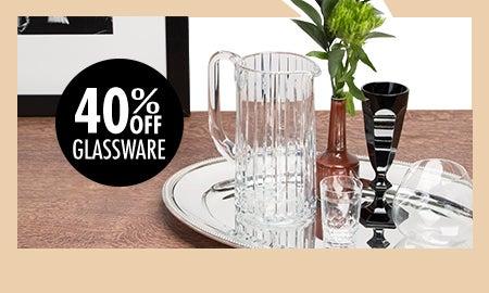 40% Off Glassware