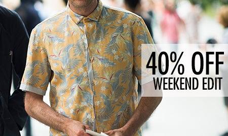 40% Off The Men's Weekend Edit
