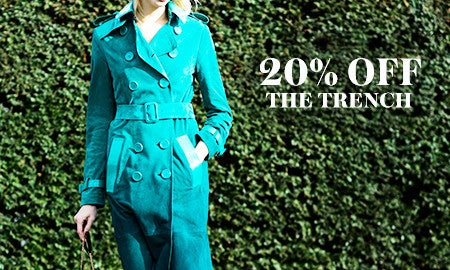 20% Off The Classic Trench & More