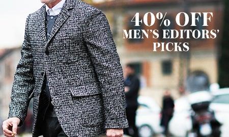 40% Off Men's Editors' Picks